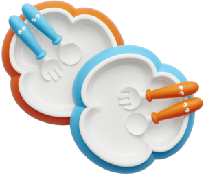 Baby-Plate-Spoon-and-Fork-Orange-Turquoise-074082-BabyBjorn